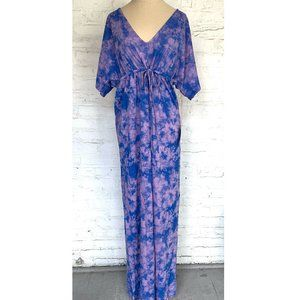 Margaritaville Swim cover maxi dress purple blue L
